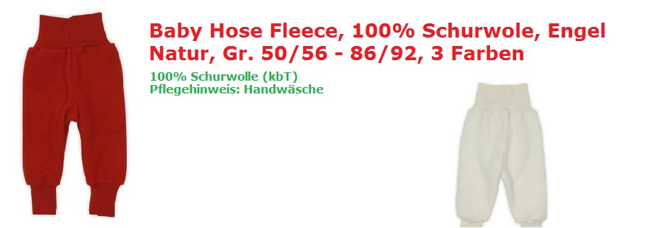 baby fleece Hose wolle