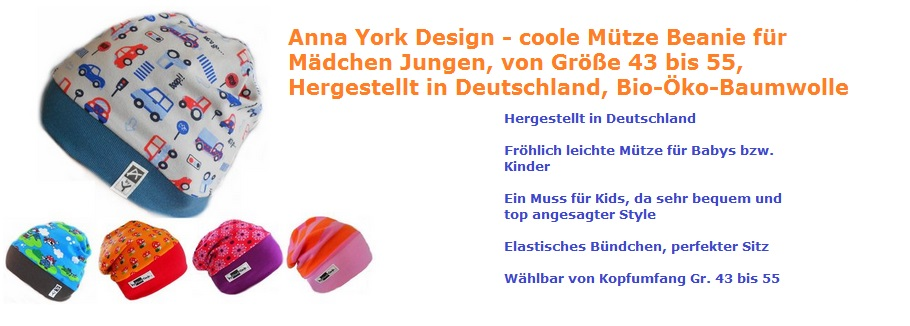 Anna York Design Mütze