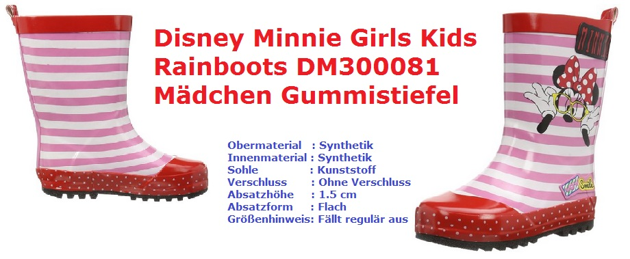 Disney Minnie Girls Gummistiefel