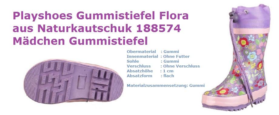 Playshoes Gummistiefel Flora Mädchen