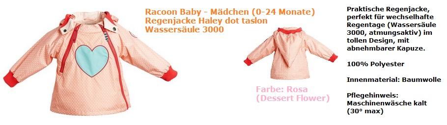 Racoon Regenjacke rosa