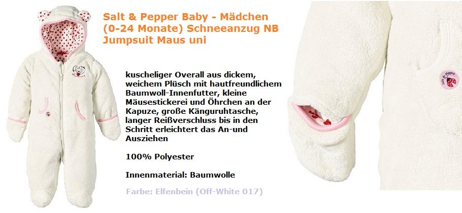 Salt Pepper Schneeanzug mausi