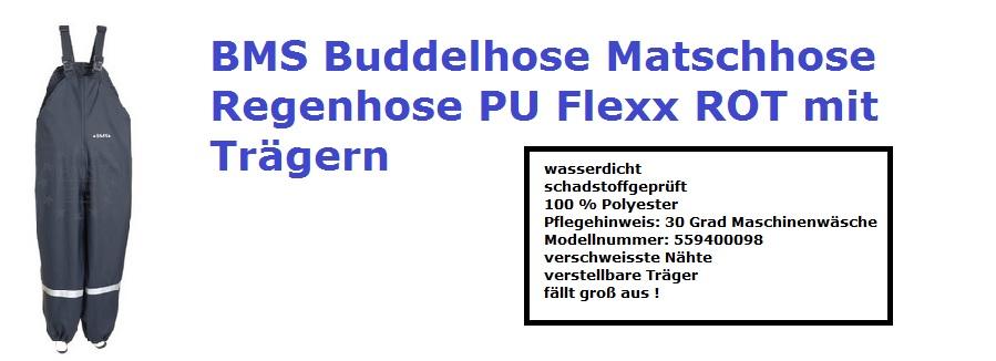 Buddelhose Matschhose BMS mit Trägern